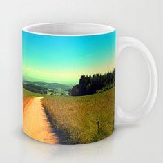 Hiking on a hot afternoon Coffee Mug by patrickjobst Ceramic Mugs, Coffee Mugs, Custom Design, Hiking, Tableware, Hot, Walks, Pottery Mugs, Dinnerware