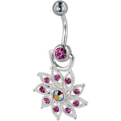 $16.19-$47.98 Baby Belly button rings are one of America's hottest fashion trends. This beautiful belly navel ring features Austrian crystal rhinestones. And with a 10mm 316 surgical steel curved barbell, this belly button ring will be both comfortable and stylish. Wear your belly button ring under your shirt as your own sexy secret, or let everyone see your navel decoration. A timeless belly ri ...