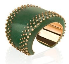 Carla Amorim Green Quartz Cuff