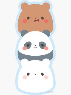 """We Bare Gumdrop Bears"" Sticker by jolifishi Cute Panda Wallpaper, Bear Wallpaper, Cute Disney Wallpaper, Kawaii Wallpaper, Wallpaper Iphone Cute, Cute Little Drawings, Cute Cartoon Drawings, Cute Easy Drawings, Cute Animal Drawings Kawaii"