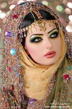 over the top arabic make up