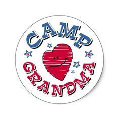 Camp Grandma Sticker
