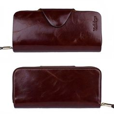 Amazon.com: Yafeige Large Luxury Women's RFID Blocking Tri-fold Leather Wallet Zipper Ladies Clutch Purse(Brown): Shoes