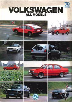 VOLKSWAGEN ALL MODELS, Japanese Brochure  Sales Classic Car Catalog Vintage jc78