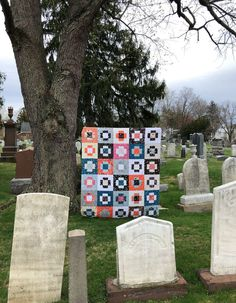 Greek Cross Block Quilt by The Smitten Chicken | Fabric: Tiny Treaters by Jill Howarth for Riley Blake Designs #tinytreatersfabric, #rileyblakedesigns, #halloweenquilt, #halloweenfabric, #jillhowarth