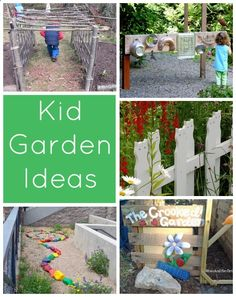 Creative ways to add kid friendly spaces to your garden - a collection of fun and simple backyard garden ideas for kids. The perfect spaces for plenty of outdoor play.