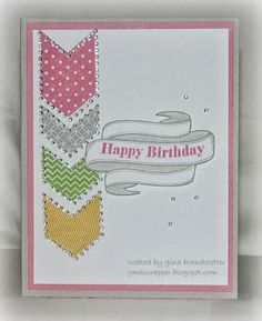 Gina's Little Corner of StampinHeaven: Banner Wishes with Charming Chevrons