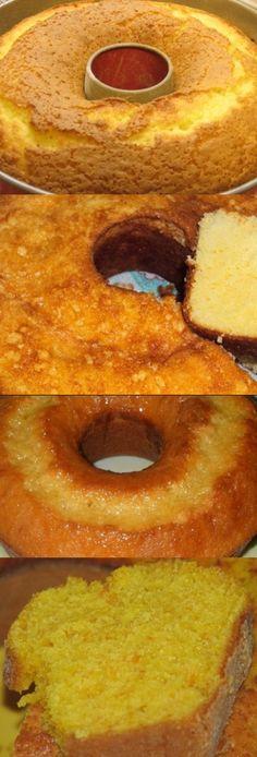Bolo De Laranja De Liquidificador #bolo #bolodelarnja #receita #culinária #gastronomia #pilotandofogao