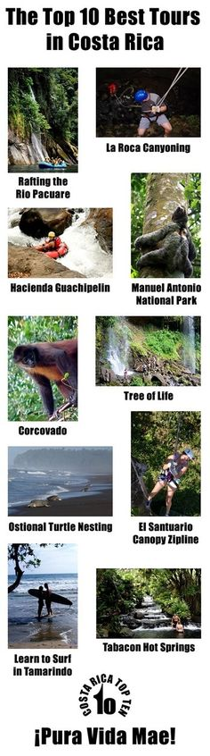The best tours in Costa Rica!