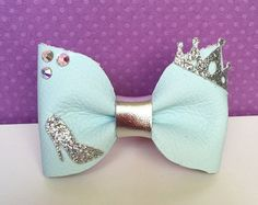 Leather Bow Snow White inspired disney bow by KerleyGirls on Etsy