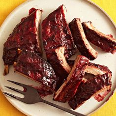 Crock Pot BBQ Ribs - do not need to grill after crockpot Crock Pot Slow Cooker, Crock Pot Cooking, Slow Cooker Recipes, Crockpot Recipes, Cooking Recipes, Grilling Recipes, Delicious Recipes, Yummy Food, Pork Ribs