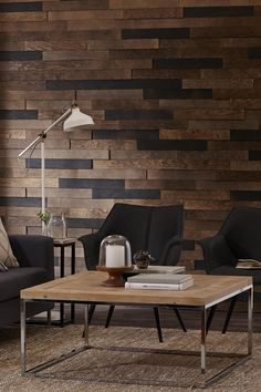 8 Stikwood Peel And Stik Wood Wall Planking Ideas Stick On Wood Wall, Peel And Stick Wood, Timber Walls, Wood Panel Walls, Diy Wall, Wall Decor, Living Room Panelling, Wood Stain Colors, Decorating Your Home