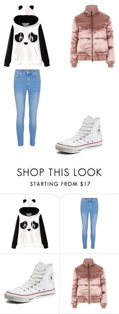 """""""casual"""" by ikatsamaki on Polyvore featuring Converse and Topshop"""