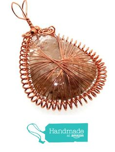 Garden Quartz Gemstone Copper Spirograph Wire Wrapped Pendant from Angelleesa Designs https://www.amazon.co.uk/dp/B01LCZMFQS/ref=hnd_sw_r_pi_dp_k7L7xbTKYT44B #handmadeatamazon