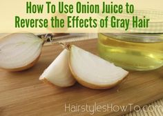 How To Use Onion Juice to Reverse the Effects of Gray Hair. Treat and reverse the effects of gray hair with a powerful remedy to restore your natural hair color. No need to use messy dyes filled with