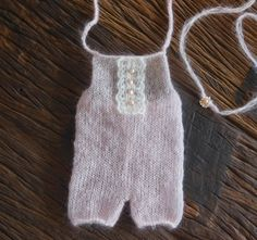 Luxury newborn romper and tieback with freshwater pearls