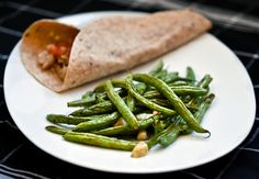 Roasted mexican green beans