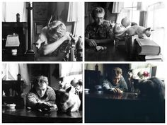 James Dean and his kitten, Marcus - a gift from Elizabeth Taylor.
