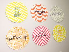 Make your summer cocktails even more colorful and fun with Haute Papier letterpress coasters!