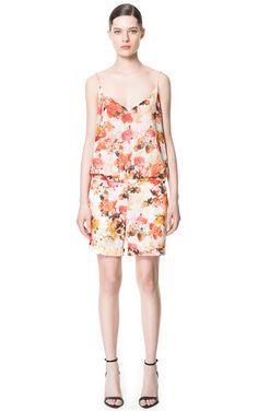 изображение 1 из КОМБИНЕЗОН ПРИНТ ЦВЕТЫ от Zara