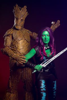 Groot and Gamora - Guardians of the galaxy Cosplay @ Japan Expo 2015