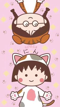 Chibi Wallpaper, Bright Wallpaper, Kawaii Wallpaper, Iphone Wallpaper, Anime Scenery, Cute Cartoon, Cute Wallpapers, Cartoon Characters, Diy And Crafts