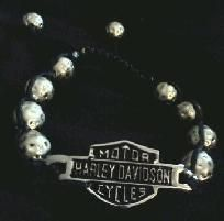$14.99 Harley Davidson Women's Black Shamballa Bracelet w/ Sterling Silver Logo Biker Jewelry Choppers You can find this on Etsy.com and Yardsellr.com Kathy Shields