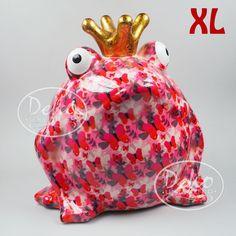 Pomme Pidou Froschkönig XL pink Schmetterlinge