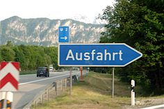 Where in the world is Ausfahrt, Germany?  Yes, there's a story here somewhere...