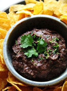 "Spicy Black Bean Dip --- I love dips & chips and this black bean dip is super yummy! It will definitely be a new ""standard"" item in my fridge for a quick & easy snack. Appetizer Dips, Appetizer Recipes, Snack Recipes, Cooking Recipes, Easy Recipes, Cooking Kale, Vegan Appetizers, Delicious Recipes, Cooking Tips"