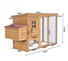chicken coop with dimensions