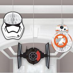 Star Wars 7 The Force Awakens Honeycomb Decoration from BirthdayExpress.com