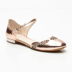 Fabi  Leather Flats In Bronze