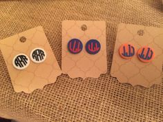 A personal favorite from my Etsy shop https://www.etsy.com/listing/269058128/monogrammed-acrylic-earrings