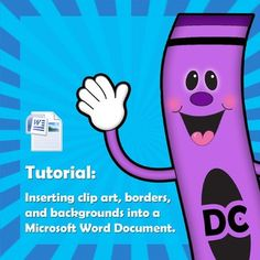 FREE Tutorial - Placing Clip Art, Borders, and Backgrounds in a Word Document