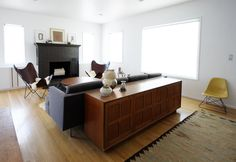 @Casey Beebe might maybe think about a credenza/couch combo to break up her space