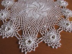 Pretty Crocheted White Doily Vintage Centerpiece by MomsGiftShoppe, $20.00