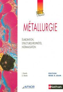 Précis de métallurgie - Éditions Nathan