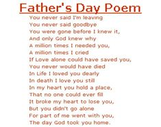Fathers Day Poems     In honor of Father's Day, I'd like to share three poems today.   One of these honors the qualities of strength and s...