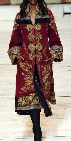 Ornate and sumptuous coat fit for a Gypsy queen. Antonio Maras #preraphaelite #bohemian
