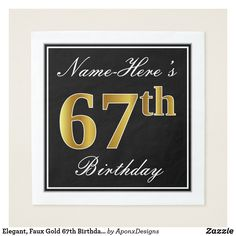 Elegant Red Faux Gold Birthday Custom Name Napkin - script gifts template templates diy customize personalize special 18 Birthday, Birthday Parties, Birthday Gifts, Birthday Ideas, Birthday Quotes, Diy Design, Script, Home Living, Birthday Greeting Cards
