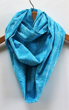 Turquoise Sunflower Infinity Scarf Summer Wedding Scarves