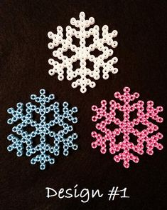 beaded ornaments Snowflake Perler Bead Ornaments by AshMoonDesigns on deviantART Perler Bead Designs, Hama Beads Design, Diy Perler Beads, Melty Bead Patterns, Hama Beads Patterns, Beading Patterns, Perler Bead Ornaments Pattern, Christmas Perler Beads, Beaded Christmas Ornaments
