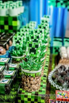 Minecraft,Festa minecraft,Minecraft Party, festa infantil, kids party, Fiz pra Você, guloseimas personalizadas, papelaria personalizada, festa de menino, festas, festa personalizada