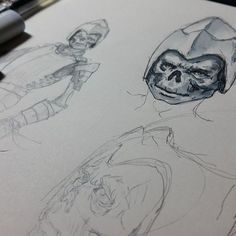#daily #practice #sketching #sketch #sketches #markers #pencil #pen #skull #medieval