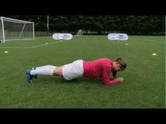 Alex Morgan Soccer Workout: Bench Alt Legs