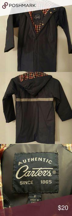 Carter's kids raincoat Carters kids raincoat.  Noticed a small snag in right arm of coat. Carter's Jackets & Coats Raincoats