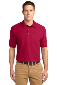 Port Authority Men's Silk Touch Polo XL White poly/cotton pique Flat knit collar and cuffs Metal buttons with dyed-to-match plastic rims Double-needle armhole seams and hem Side vents Corporate Outfits, Business Outfits, Uniform Shirts, Casual Shirts, Silk Touch, Sports Shirts, Polo Shirts, Men's Polos, Clothing Company