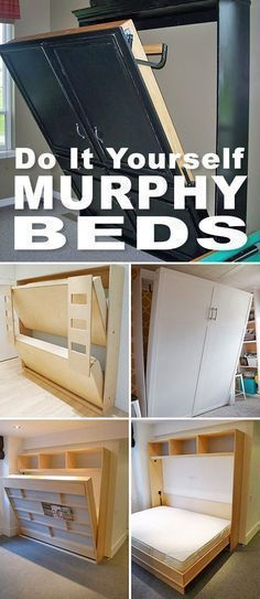 Diy Murphy Bed with Storage. top 10 Beautiful Diy Murphy Bed with Storage You Should Try. 12 Diy Murphy Bed Projects for Every Bud Cama Murphy, Murphy Bed Ikea, Murphy Bed Plans, Murphy Bunk Beds, Murphy Table, Bunk Bed Plans, Furniture Projects, Home Projects, Diy Furniture