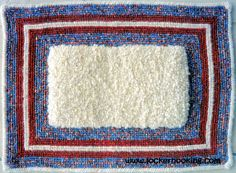 Locker Hook & Latch Hooked Rug I made showing the difference between rug hooking.